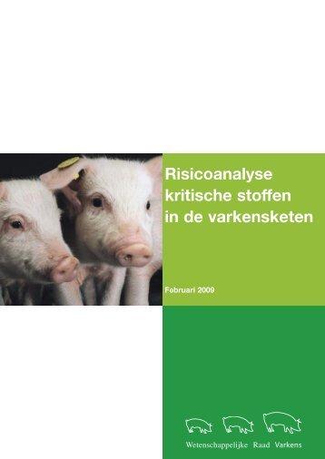 Risicoanalyse verboden stoffen varkensketen 2009