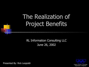 The Realization of Project Benefits - ITSM