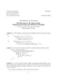 Probeklausur zur Vorlesung Einführung in die Informatik ...