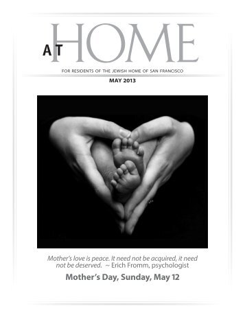 Mother's Day, Sunday, May 12 - Jewish Home of San Francisco