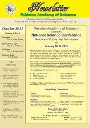 October 2011 - Pakistan Academy of Sciences