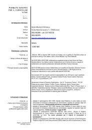 Visualizza il CV - Comune di Lecce