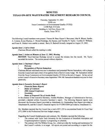 T#:'ffi Hfl Tff i1;:*:il:'#;;,HtHT:f - Texas Onsite Wastewater Association