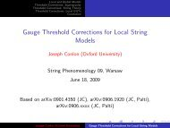 Gauge Threshold Corrections for Local String Models