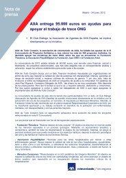 AXA entrega 95.000 euros en ayudas para apoyar el trabajo de ...