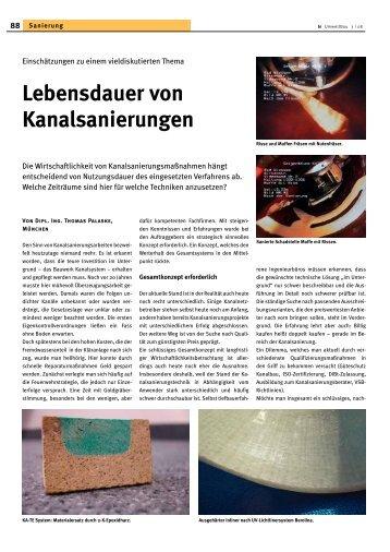 Lebensdauer von Kanalsanierungen | biUmweltBau ... - Geiger
