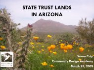 State Trust Lands in Arizona CDA PPT 3-25-09 V2 - Sonoran Institute
