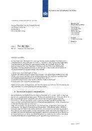 kamerbrief van Staatssecretaris Atsma van 14 juli 2011