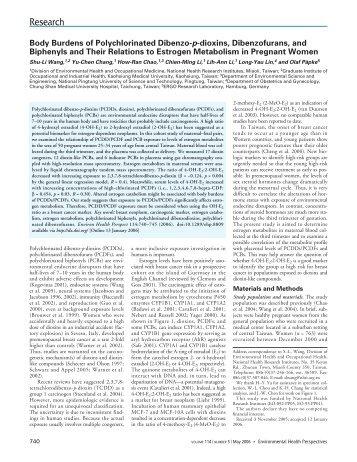 Body Burdens of Polychlorinated Dibenzo-p-dioxins ... - BVSDE