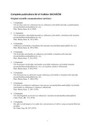 Publikace Ducháček - Vysoká škola chemicko-technologická v Praze
