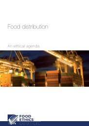 Food distribution: an ethical agenda - Institute of Food Research