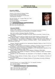 CURRICULUM VITAE Prof. Dr. Alexandru BURIAN