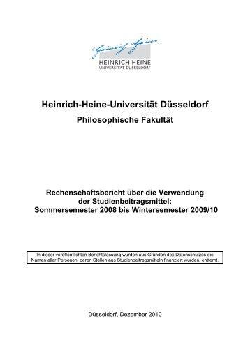 Sommersemester 2008 bis Wintersemester 2009/10