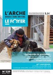 Mars 2011 n°229 - Foyer Notre-Dame des Sans-Abri