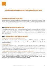 Conditions spécifiques d'abonnement à l'offre ... - Orange mobile