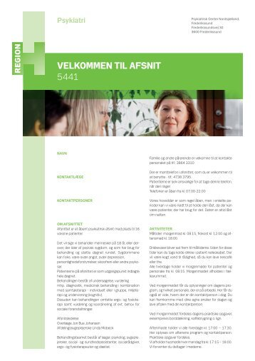 Velkommen til afsnit 5441.pdf - Region Hovedstadens Psykiatri