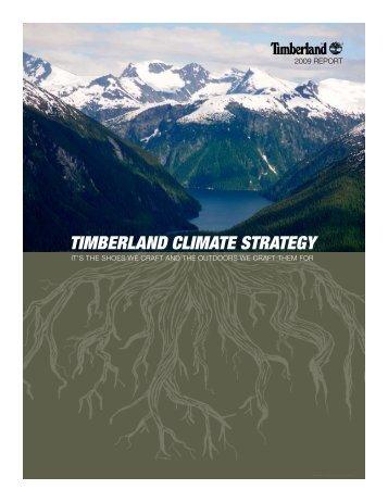 TIMBERLAND CLIMATE STRATEGY - Timberland Responsibility