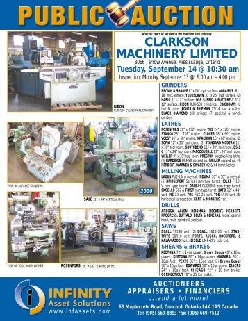 CLARKSON MACHINERY LIMITED - Alchemyweb.ca