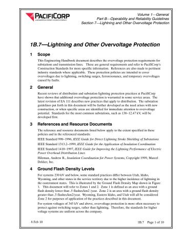 1B.7—Lightning and Other Overvoltage Protection - Pacific Power