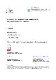 Nachsorge und Rehabilitation bei Patienten mit gastrointestinalen ...