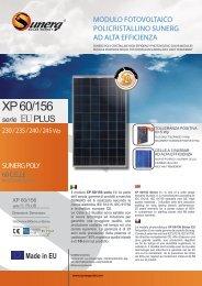 Download Scheda Tecnica XP 60/156 EU+ - Sunerg