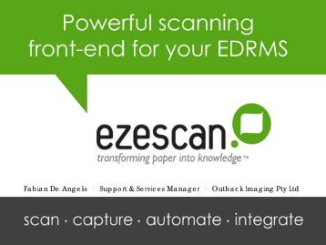 Ezescan - Records and Information Management Professionals Australasia