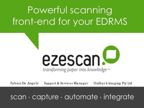 Ezescan - Records and Information Management Professionals