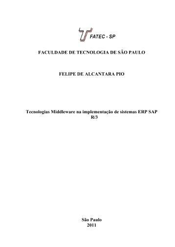 Tecnologias Middleware na implementação de sistemas ... - Fatec