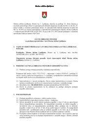 Javno zbiranje ponudb za prodajo nepremičnin MOL - Ljubljana