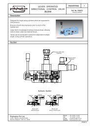 lever operated directional control valve dls10 - Polyhydron Group of ...