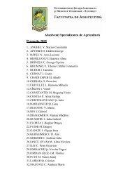 Absolvenţi Specializarea de Agricultură Promoţia 2005