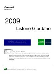 Listone Giordano - Akvabutik