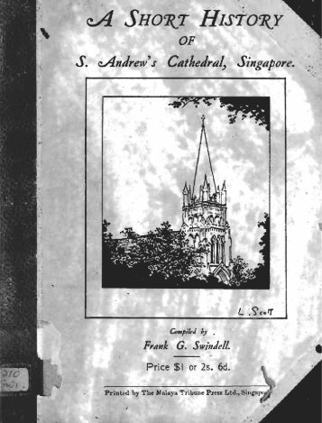 A Short History of S. Andrew's Cathedral Singapore (Singapore ...