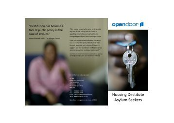 Housing destitute asylum seekers – Open Door North East (pdf)