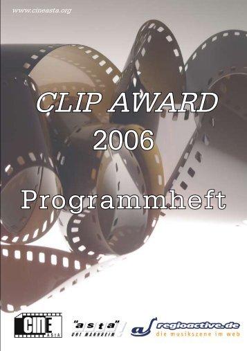 Programmheft - Clipaward Mannheim