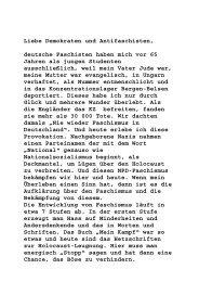 Rede von Dr. György Dénes anlässlich der NPD-Demonstration am ...