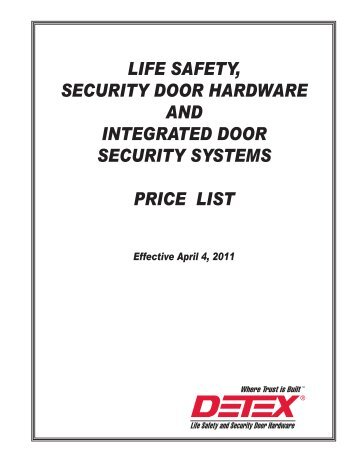 Detex 2011 Price List.pdf - Access Hardware Supply