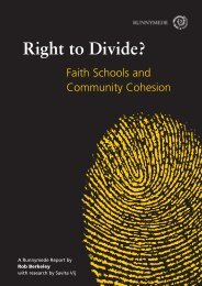 Right to Divide? - Runnymede Trust