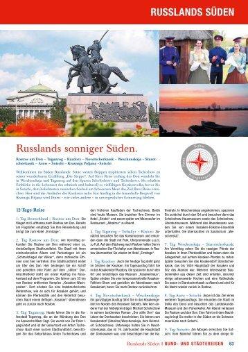 RUSSLANDS SÜDEN Russlands sonniger Süden. - Eurocult