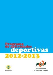 Programa de actividades deportivas de invierno. - Ayuntamiento de ...