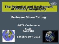 TITLE OF PRESENTATION - Australian Geography Teachers ...