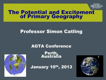 TITLE OF PRESENTATION - Australian Geography Teachers ...