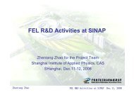 FEL R&D Activities at SINAP