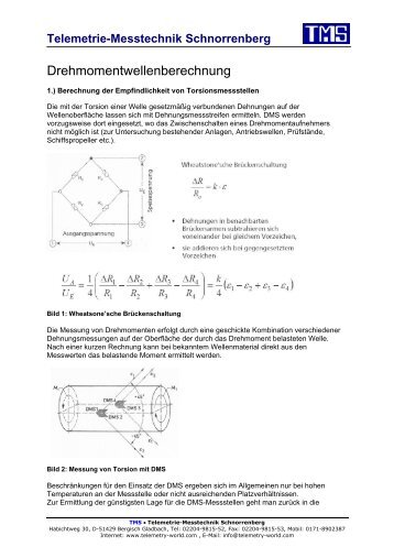 Drehmomentwellenberechnung - TMS · Telemetrie-Messtechnik ...