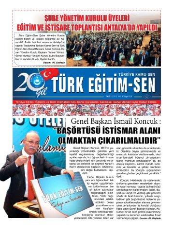 """Genel Başkan İsmail Koncuk : """"BAŞÖRTÜSÜ ... - Türk Eğitim-Sen"""