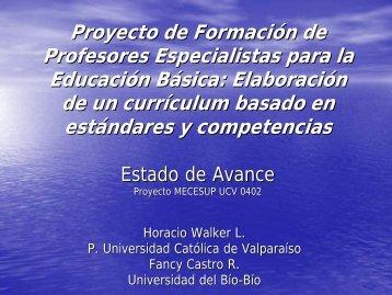 Sra. Fancy Castro y Sr. Horacio Walker, UCV - UBB - Universidad ...