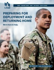 PREPARING FOR DEPLOYMENT AND RETuRNING ... - USAA.com