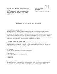 Leitfaden für den Praxisphasenbericht - Fakultät III