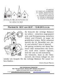 Pfarrblatt Nr. 30/31 vom 28.07. – 12.08.2012 (€ 0,30)
