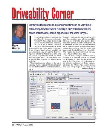 Driveability Corner - SenX Technology